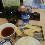 揚げたて天ぷらさくや - 続いてご飯と太刀魚・キス