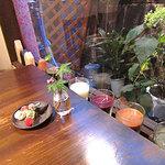 アルモニコ - テーブルと中庭、アロマ・キャンドル