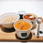 スープストックトーキョーカフェ - スープストックセット 税込@980円 玄米は普通サイズ(小盛・大盛も可能)でも十分な量でした。