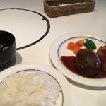 びもん - 和牛ベーシックハンバーグ+ポークカツd(*'▽.'*)w¥750円