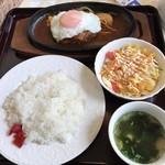 洋食屋バンク - 昭和ハンバーグセット=980円