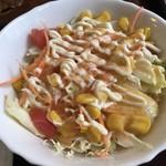 洋食屋バンク - 苦手なキャベツの千切りサラダ