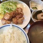 ずぼら - 鳥の唐揚げ定食(750円)