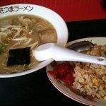 さつまラーメン - ラーメン焼き飯セット800円☆(第一回投稿分③)