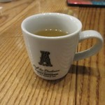 燻製欧食堂 天神大名ルッチョラ -  先ずはミニカップのコンソメスープをいただいて料理はスタートです。