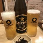 つきじ芳野吉弥 - 当然ビール飲むよね?