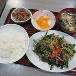 い志い食堂 - 料理写真:日替わり[ニラと玉子炒め定食](2018/04/17撮影)