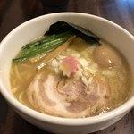麺処丹治 - 味玉 鶏白湯醤油ラーメン
