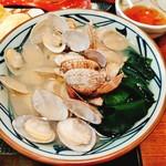 丸亀製麺 松本村井店 - これでもアサリ10個食べた後です!