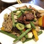 かぎもと - 牛肉の黒胡椒炒め(¥780)