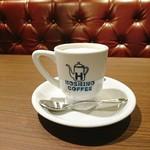星乃珈琲店 - カフェオレ。クリーミーな味わいです。