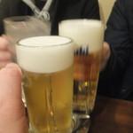 かぶら屋 - ビールで乾杯(2018.3.3)