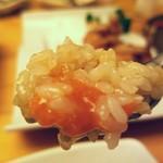 プロカンジャンケジャン - ご飯を蟹味噌に混ぜて