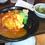 オムトラックカフェ&デリ - 鶏肉とトマトのソース 温野菜添え