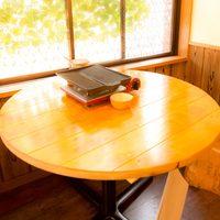 ★木製ワイド丸テーブル☆