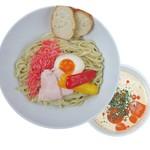 麺や ハレル家 - 冷たい海老味噌クリームつけ麺
