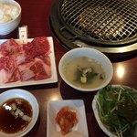 焼肉 福福 - ハラミ・カルビ愛ランチ(¥1,580)
