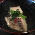 84367134 - お椀:鯛とごま豆腐