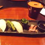 84367925 - 漬け物のお寿司(柚子大根、高菜、白菜、壬生菜)(2018年4月)
