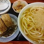 84370558 - かしわ飯にぎり定食(550円)