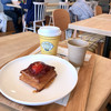 フレッシュネスバーガー - 料理写真:ストロベリーデニッシュとコーヒー