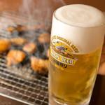 炭火七輪 炭きち - ホルモン×ビールは鉄板の相性◎ 暑い季節には最高です