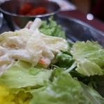 サクティ - 野菜サラダとマカロニサラダ