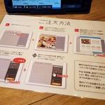 TSUKUMO食堂 - タッチパネルの使い方