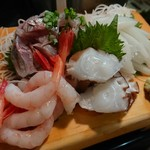 かわなみ鮨 - 鯵、烏賊、蛸、甘海老刺身