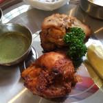 インド料理パンジャブ - スペシャルランチ チキンティッカ、マライティッカ