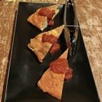 個室イタリアン LaVitaRosa  - 記念日のメモリアルコース(2,5時間/4500円/チャージ料金/300円)☆彡 そしてコース料理が運ばれてくる♪ ◆本日の温製前菜はトルティージャ。スペイン風オムレツで中のジャガイモがホッコリしてる!