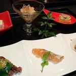 三海の華 - 前菜6種盛り