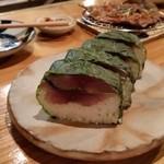 藁焼 みかん - 鯖寿司。