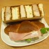 パリクロアッサン - 料理写真:塩パンドッグ(ハム&ゆずマヨチーズ)、こだわりロールカツサンド