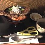 高屋敷肉店 - 【ランチ】ガブリつき ステーキ丼 980円(税込)