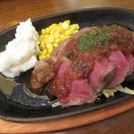 肉料理 Vin de Kitchen - 【北新地でランチ】 厚切りステーキプレート \850