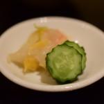 目黒の和食 さとう - 【鯛茶漬け@税込1,200円】お新香