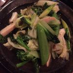 root - 山菜と春野菜の炒め物