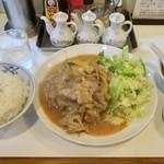 らーめんはうす - 料理写真:「豚肉のスタミナ炒め」(800円)+「ライス」(150円)