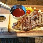 肉が旨い NICKSTOCK - サービスステーキ ¥1000