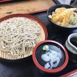 山都家 - ランチの手打ちそば海老野菜天丼900円