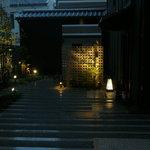 東急ステイ 京都両替町通 - 本館入口から外を見る(初日夕方)