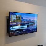 東急ステイ - 大型液晶テレビ、ホテルの案内動画も映ります