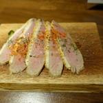 ワイン立呑 オオシマ - 自家製鴨スモーク(380円)