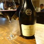 ワイン立呑 オオシマ - 赤ワイン(490円)