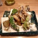 凧 - 穴子と野菜天ぷら
