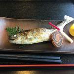 Cafe Dining Hana - あめご塩焼き650円。残念ながらチン。