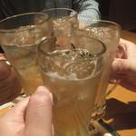 まんたろー - ジンジャーハイボールで乾杯(2018.4.18)