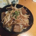 まんたろー - サイコロステーキ丼(2018.4.18)