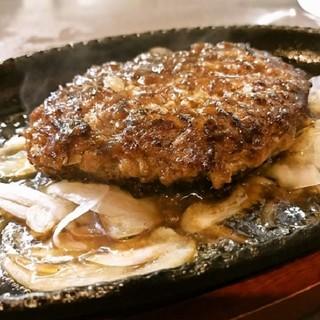 【自慢の逸品】リピーター続出!牛肉100%鉄板ハンバーグ!